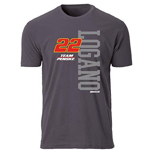 Metal Short Sleeve Tee - NASCAR Penske Racing Men's 20050-HMTL-XL-Logano1 Sueded Short Sleeve Tee, Heavy Metal, X-Large