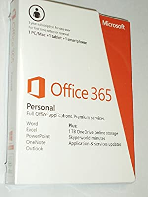 Microsoft Office 365 Personal 1 Year PC or Mac