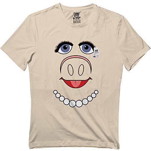 Pig Puppet Piggy Face Halloween Miss Costume Kids Adult Tshirt ()