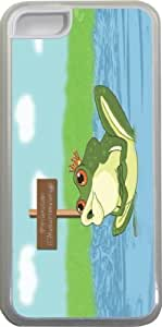 Prince Charming Frog Design iPhone 5c Case Cover (Clear PC with bumper protection) for Apple iPhone 5c WANGJING JINDA