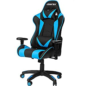Merax Gaming Chair High Back Computer Chair Ergonomic Design Racing Chair (Blue)