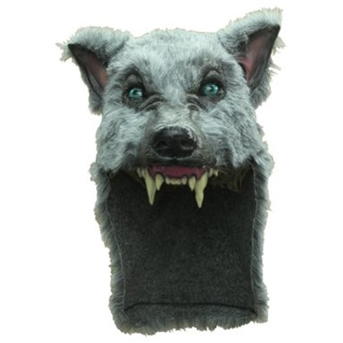 Grey Wolf Mask Helmet (Wolf Masks For Adults)