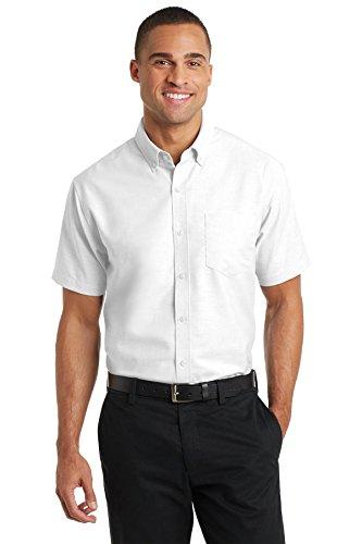 Price comparison product image Port Authority Men's Short Sleeve SuperPro Oxford Shirt L White