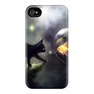 Hot New Space Cat Doubt Cases Covers For Iphone 4/4s With Perfect Design