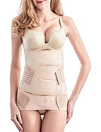 Postpartum Belly Wrap, 2 in 1 Postnatal Waist Belt C-section Recovery Girdle