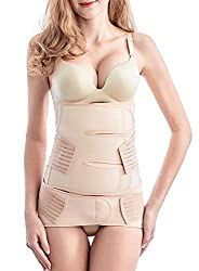 Postpartum Belly Wrap 2 In 1 Postnatal Belt C Section Recovery Wasit Belly Pelvis Girdle Post Pregnancy Body Shaper Girdle After Delivery Nude One Size