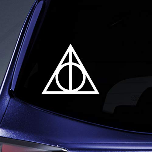 Bargain Max Decals HP Deathly Sticker Decal Notebook Car Laptop (2 Stickers of 2
