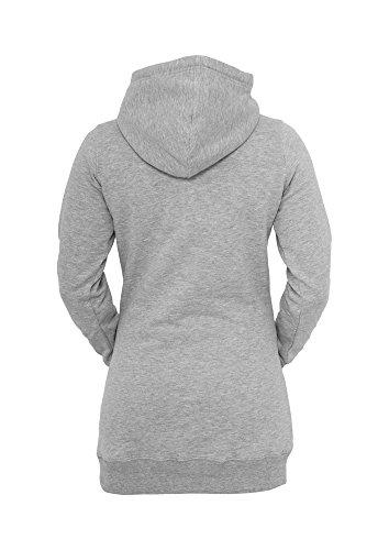 tb391Ladies Long Sudadera con capucha sudadera con capucha mujer gris