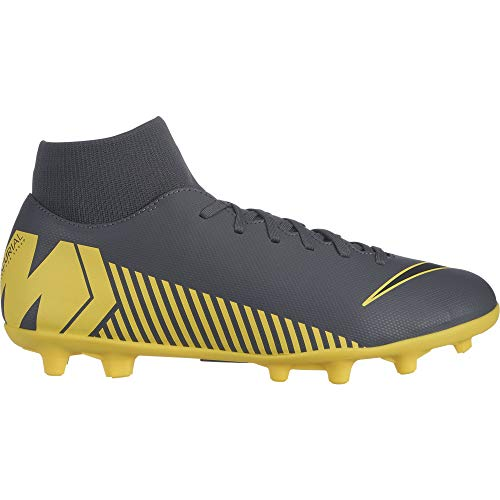 Nike Men's Superfly 6 Club (MG) Multi Ground Soccer Cleat (10.5 M US, Dark Grey/Black/Opti Yellow)