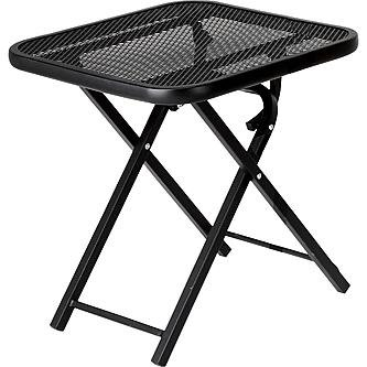 Jaclyn Smith Wrought Iron Mesh Metal Square Table