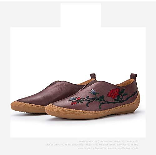 ZHRUI Schuhe (Farbe (Farbe (Farbe : Braun, Größe : EU 39) Braun 56482f