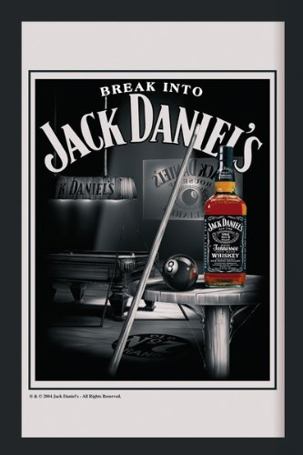 "Jack Daniels - XL Bar Mirror (Snooker / Pool) (Size: 12"" ..."