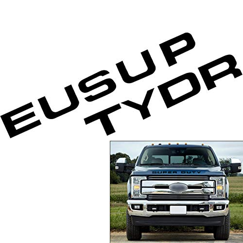 - Matte Black Thin Vinyl Super Duty Letters Decal Stickers For 2008-2016 Ford F-250 F-350 F-450 F-550 Front Grille Hood