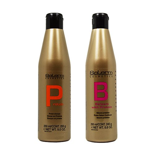 Conditioner Balsam Hair (Salerm Protein Shampoo & Balsam Conditioner 250ml Duo