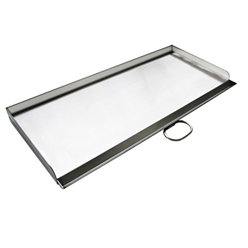 """(Stanbroil Cast Stainless Steel Replacement Cooking Griddle with handle for Camp Chef SG60, Fits Camp Chef 14"""" 2 burner stove cooking system)"""
