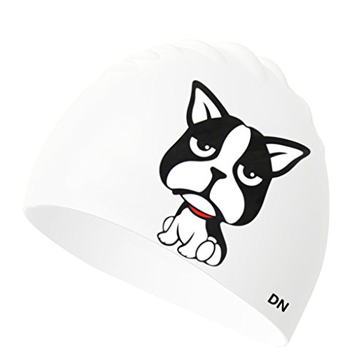Kids Cat/Dog Swim Cap Silicon Pool Gift One Size Summer Cap for Girls Boys