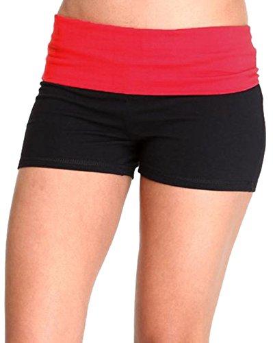 Hollywood Star Fashion - Shorts - para mujer negro/rojo