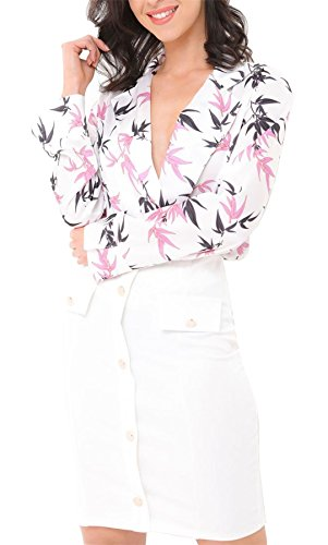 Black Long White Body Sleeves Size Woman 21fashion Printed One xqvX6wa