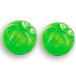 PetSafe SlimCat Interactive Toy and Food Dispenser Color:Green Pack of 2