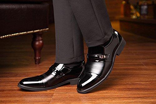 Uomo da Uomo E in Scarpe Nere Business Scarpe da Scarpe Autunno Casual Black Pelle Primavera Traspirante OqFqwx07