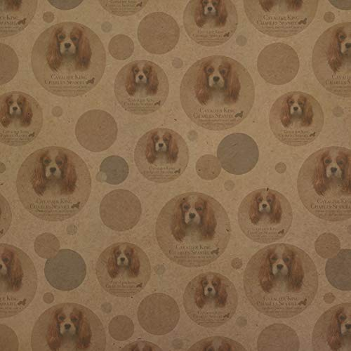GRAPHICS & MORE Cavalier King Charles Spaniel Dog Breed Premium Kraft Gift Wrap Wrapping Paper Roll