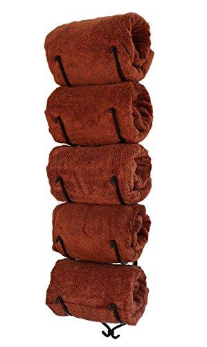 Tall Bronze 5 Holder Towel Rack ~ Towel Holder, Bathroom Towel, Bathroom StorageMade in the U.S.A.