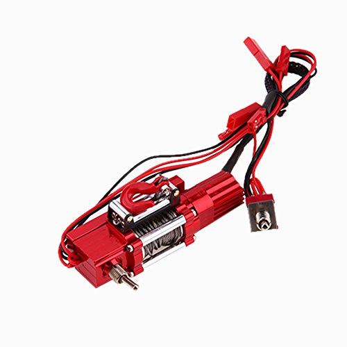 Chinatera RC Rock Crawler 1:10 Accessories Metal Steel Wired Automatic Winch for Traxxas Hsp Redcat Rccar Tamiya Axial