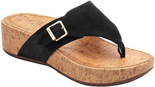 Vionic Women's, Marbella Thong Sandal Black 8 M