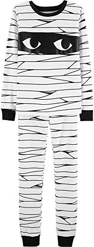 Carter's Boys Halloween Mummy Glow-in-The-Dark Pajama Pjs 2 pc (4) -