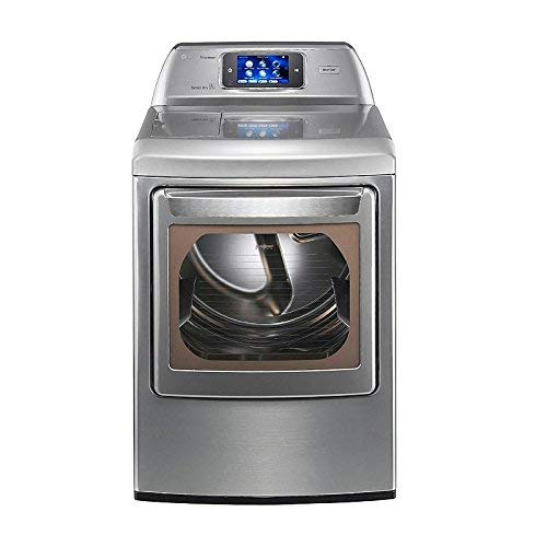 LG DLEX6001V 27″ Graphite Steel Front-Load Electric Steam Dryer .3 cu. ft. Ultra Large Capacity SteamDryer with Smart ThinQ Technology (Electric) (Renewed)