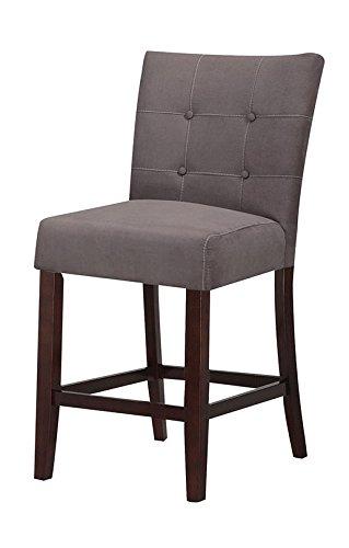 ACME Baldwin Gray Microfiber Counter Height Chair Set Of 2