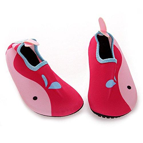 Strandschuhe/ Aquaschuhe/ Surfschuhe mit Mehrfabe EU 22-23 / 13,5-14 cm, rosa (Kinder)
