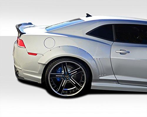 Duraflex ED-IGO-566 Wide Body GT Concept Rear Fender Flares - 2 Piece Body Kit - Compatible For Chevrolet Camaro 2010-2015