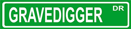 Novelty GRAVEDIGGER street sign aluminum 4