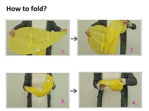 84db7287f798 Creative UFO Waterproof Hands Free Umbrella Rain Hat Headwear Cap ...
