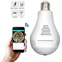 Wireless 360 Security Hidden Camera, corprit Panoramic 960P WIFI Light Bulb IP Camera Indoor Home Surveillance System with Remote View Motion Detection and Night Vision
