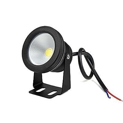 White, Silver Body : 10W AC 12V LED Underwater light Fountain Lamp Car light Pool Fish Tank Piscina Pond Spotlight Outdoor Floodlight Landscape lamp