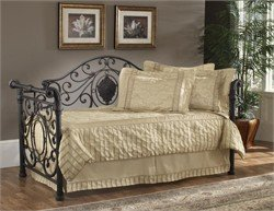 Old World Hillsdale Furniture - Hillsdale Furniture Mercer Metal Sleigh Daybed in Antique Brown