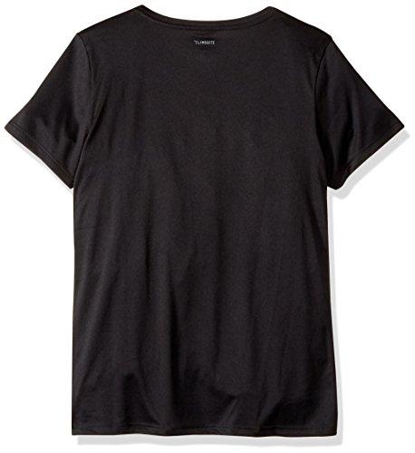 adidas Big Girls' Short Sleeve Graphic Tee Shirts, Black, L