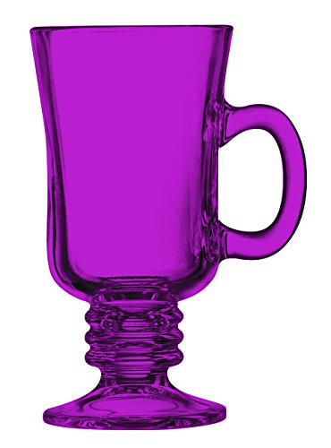 Pink Irish Coffee Mug Fully Colored - 8.5 oz. set of 1- Additional Vibrant Colors Available by TableTop King