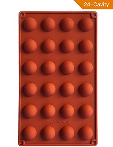 Truffle Chocolate Mold (PERNY Mini Semi Sphere Half Round Molds, Candy Chocolate Truffle Silicone Mold)