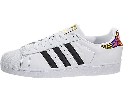 adidas Originals Women's Superstar W Sneaker, Ftwr White, Core Black, Gold Met, 7.5 M US (Adidas Star)