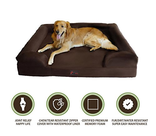 Extra Large Orthopedic Bolster Dog Bed Webnuggetz Com