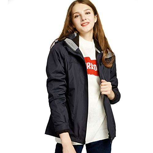 CAMEL CROWN Women's Ski Waterproof Jacket Fleece Inner Breathable Lightweight Rain Coats Hooded Windproof Softshell Snowboard Jacket for Hiking Camping Outdoor Travel by CAMEL CROWN (Image #6)