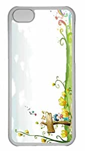 Customized iphone 5C PC Transparent Case - Beautiful Autumn Landscape 2 Personalized Cover