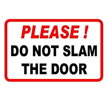 PLEASE DO NOT SLAM THE DOOR - Vinyl Taxi Sticker  sc 1 st  Amazon UK & PLEASE DO NOT SLAM THE DOOR - Vinyl Taxi Sticker: Amazon.co.uk: Car ...