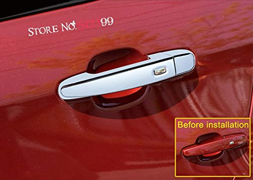 Star-Trade-Inc - 4PCS ABS Chrome Smart hole Door Handle Decoration Cover Trim For Chevrolet Camaro Sixth Gen. Car Accessiores Styling ()