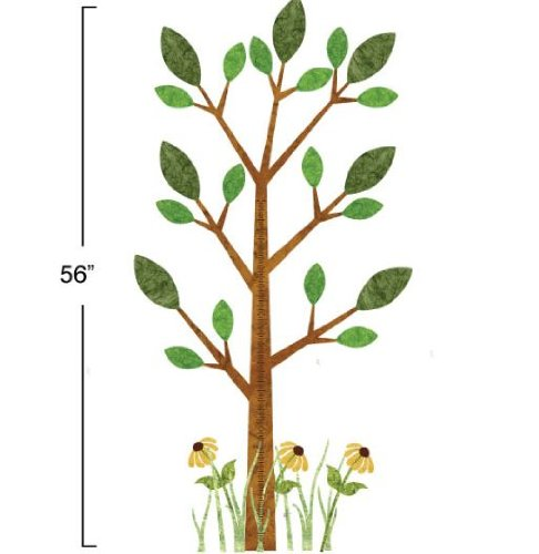 My Wonderful Walls Peel and Stick Tree Growth Chart Forest Theme Wall Sticker - Brown-Green-Yellow by MyWonderfulWalls