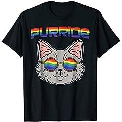 Funny Cat Shirt Purride LGBT Pride Gay Lesbian Bisexual Gift