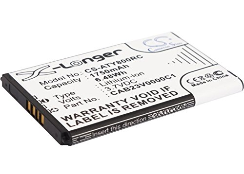 VINTRONS 1750mAh Battery For Alcatel One Touch Link Y800, One Touch Link Y800Z, by VINTRONS